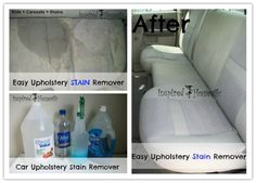 DIY Easy Car Upholstery Stain Remover Recipe | DIY Tag