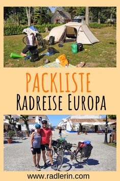 Radreise Europa Packliste - Radlerin Radler, Travel Destinations, Wanderlust, Nature, Outdoor, Life Goals, Bike Rides, Tentsile Tent, Vacation Travel