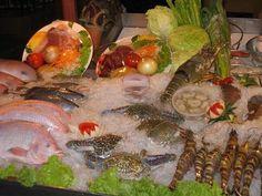 Fresh Fish on display at a Bangkok Seafood Restaurant Seafood Restaurant, Thai Recipes, Fresh Rolls, Bangkok, Sushi, Vacation Ideas, Display, Google Search, Viajes