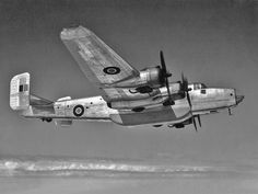 "RAF Handley Page Halifax PP285 MkC.VIII above clouds ca.'45. Available on eBay as part of photo CD - ""Halifax RAF WWII + Heavy Bombers. Handley Page design. 60 Militaria Photo CD."""