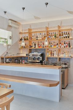Πατητη τσιμεντοκονια / Lava finish by www.evomat.com Lava, Kitchen Island, It Is Finished, Table, Furniture, Home Decor, Island Kitchen, Decoration Home, Room Decor