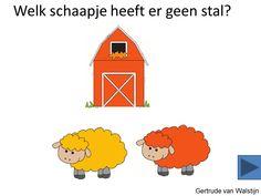 Digibordles: Welk schaapje heeft geen stal?    http://leermiddel.digischool.nl/po/leermiddel/12ed5005c05811abb57054541915e6e9?s=3.11