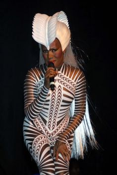 Grace Jones in Treacy