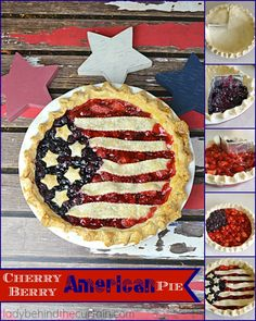 This Cherry Berry American Pie shouts stars and strips forever! Two favorite pies combined into one delicious All American Pie. Don& worry I will show yo Best Dessert Recipes, Cookbook Recipes, Fun Desserts, Holiday Recipes, New Recipes, Summer Desserts, Yummy Recipes, Vegan Recipes, Favorite Recipes
