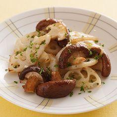 しいたけとれんこんのガーリックソテー | 村田裕子さんのおつまみの料理レシピ | プロの簡単料理レシピはレタスクラブニュース