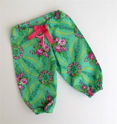 Gorgeous Emerald Beauty Queen Harem Pants, Baby, Girl, Toddler