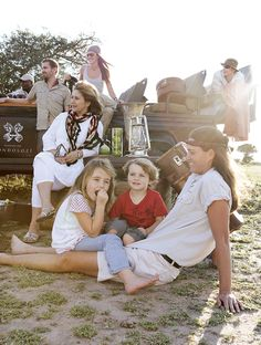 Kate with children, Emma and Thomas, and her extended Londolozi family. Photograph by Elsa Young Female Head, Game Reserve, African Safari, Beautiful Children, Ranger, Interview, Couple Photos, Invite, Elsa
