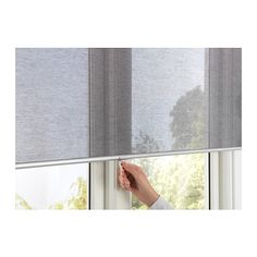 "IKEA - SKOGSKLÖVER, Roller blind, 38x76 ¾ "", , The blind is cordless for increased child safety.Filters light and reduces reflections on TV and computer screens.Can be mounted inside or outside the window frame, or in the ceiling.The blind rolls back up slowly and softly thanks to the built-in soft-closing function."