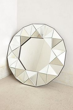 Two of these in my guest bathroom.   Round Venetian Mirror  #anthropologie