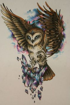 10 Mysterious Owl Tattoo Designs & Meanings Tattoos of Hannah Body Art Tattoos, Sleeve Tattoos, Cool Tattoos, Circle Tattoos, Fish Tattoos, Animal Sleeve Tattoo, Tattoo Sleeves, Buho Tattoo, Tattoo Owl