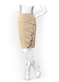 Skirt: Your Size Sewing Pattern 4069 Pattern