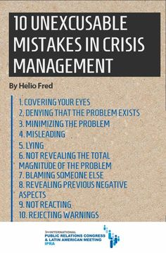 Stop committing these #CrisisManagement mistakes NOW!