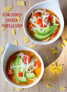 Best Slow Cooker Chicken Tortilla Soup