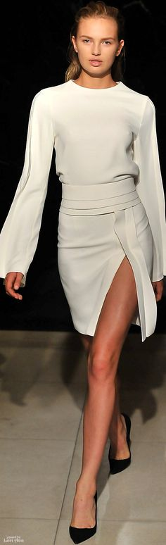 "Brandon Maxwell Spring 2016 RTW ""And the LORD said to Moses, ""Go to the people and consecrate them today and tomorrow. Have them wash their clothes."" Exodus 19:10"
