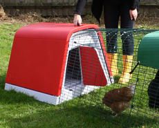 The Eglu Go is the simple, stylish, straightforward way to start keeping chickens. It is designed for you to keep 2 medium chickens and they will be very happy and healthy in their new home. The Eglu Go comes complete with everything you need to get started. It has plastic roosting bars and a discreet nesting area which can be filled with straw or shredded paper. You can collect freshly laid eggs through the door at the back of the house.
