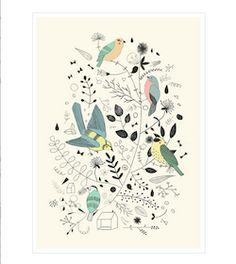 Springtime Birds Studio Meez à partir de 39€- #affiche #enfants #deco #kids