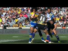 Talk about powerful!  Check out this brilliant try assist from Tongan Rugby League player Fuifui Moimoi