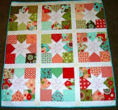 charming stars using bliss from the quilty home (the pattern is from moda bakeshop)