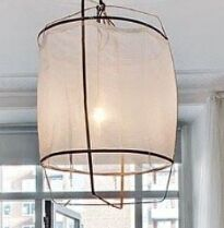 PM0405-1 pendant lamp.fabric and steel. it can be packed flat,CBM can be quite small.