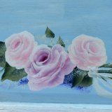 How to Paint Pink Roses fast and easy.
