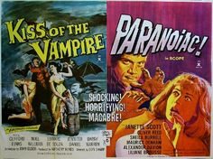 posters of horror movies | ... PARANOIAC Double Bill - Hammer Horror B Movie Posters Wallpaper Image