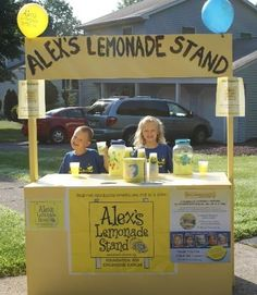 """Lemonade Stand - represents the freedom in America to pursue your own dream of entrepreneurship and the immense benefits that flow for the individual and their community from that pursuit."""" ~Peter Baskerville"""
