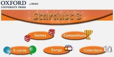 """Materiales y actividades interactivas complementarias de Inglés de 3º Nivel de Educación Primaria, """"Stardust"""", de Editorial Oxford."""