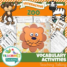 This adorable zoo vocabulary activities pack includes 5 interactive speech therapy activities that will help you reinforce theme based vocabulary for PreK & Kindergarten students. Teaching Vocabulary, Teaching Themes, Vocabulary Activities, Speech Therapy Activities, Interactive Activities, Book Activities, Language Activities, Following Directions Activities, Phonological Awareness Activities