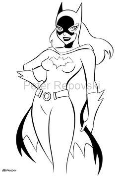 Batgirl - Animated, in Byron Hamm's Batman & Family Comic Art Gallery Room Classic Cartoon Characters, Comic Book Characters, Comic Character, Superman Coloring Pages, Lego Coloring Pages, Dragon Coloring Page, Dog Coloring Page, Cartoon Sketches, Cartoon Art