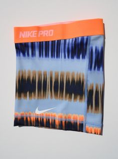 New Orange Blue Print s Nike Pro Core Women's Compression Shorts Size Small | eBay