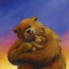 Florynda del Sol ღ☀¨✿ ¸.ღ ♥Bears illustrations♥ Anche gli Orsetti hanno un'anima…♥ Box Frame Art, Funny Parrots, Blue Nose Friends, Dachshund Art, Super Cute Animals, Art Corner, Bear Art, Cartoon Pics, Cute Characters