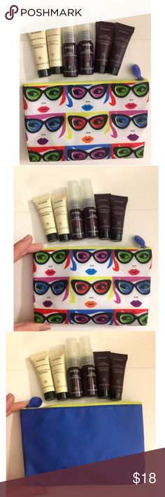 7 PC Aveda Hair Care Set NWT Includes 6 travel sized Aveda products (2 of each kind) and one travel cosmetic pouch to use either with this set or however you please. All authentic aveda products. No imperfections on the cosmetic pouch. See hand for sizing references. If you have questions please ask! Aveda Makeup