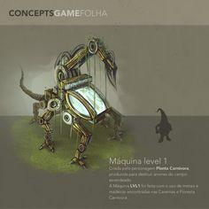 Novo concept, maquina primeiro nível game.