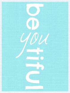 Beauty Quote Subway Art 11X 17  BeYOUtiful by BrandedEclipse, $16.00