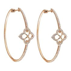 Diamond and gold hoops, a simple yet glamorous accessory
