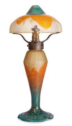 CHARDER & LE VERRE FRANCAIS LAMPE