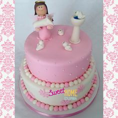 Baptism cake Girl cake