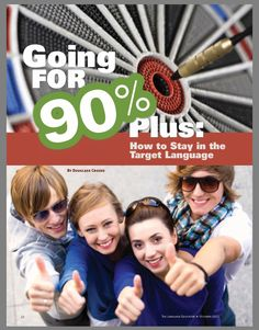 Going for 90% Target Language in the classroom and here's how..... https://www.actfl.org/sites/default/files/pdfs/TLE_pdf/TLE_Oct12_Article.pdf