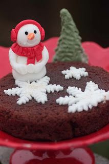 Gingerbread cake with edible decorations