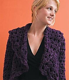 Olivia's Shrug- Free pattern with registration if you are not a member already. Lion Brand