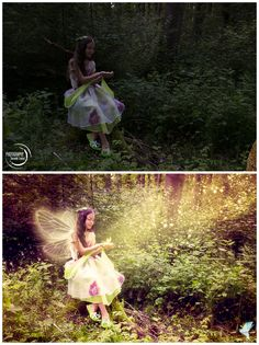 """Fairy"" by: Photography Dominik Lauter; picture editing: Céline Claire Stöger - Graphic Design & Digital Art / www.cc-graphicdesign.com)  Before and after my work"
