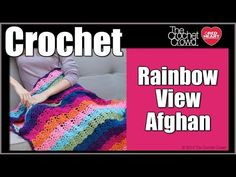 Crochet Rainbow View Afghan (Change colors or use one color... Deb)