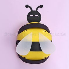 Bee Party Favor Gift Box (SVG, PDF files)