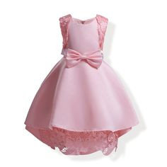 2018 Pink High Low Flower Girl Dresses For Party And Wedding 5a41a0f5edd4