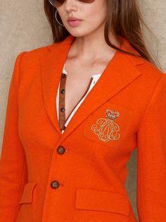 Bullion Crown Wool Jacket - Jackets  Women - Ralph Lauren