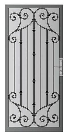 Security Screen Doors : Great Gates and Whiting Iron in Phoenix AZ Grill Gate Design, Steel Gate Design, Window Grill Design, Door Gate Design, Wooden Door Design, Railing Design, Wrought Iron Decor, Wrought Iron Gates, Security Screen