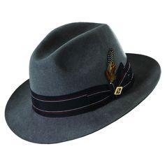 Stacy Adams Wool Felt Fedora Hat - Overstock™ Shopping - Great Deals on Stacy Adams Men's Hats
