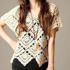 Una blusa de crochet elegante hecho a pedido por AsDidy en Etsy