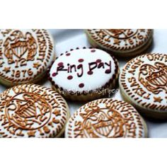 Aggie Ring Day cookies. Make to send to Seth for Ring Day!!
