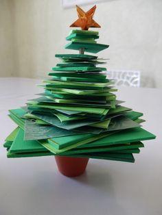 Bricolage de Noël : un sapin en papier